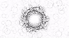 Abstract Black and White Rotating Sphere Animation - Loop Stock Footage