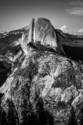 Half Dome at Sunset Glacier Point Yosemite National Park California Black and Kuvituskuvat