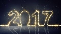 2017 greeting christmas lights loopable Stock Footage