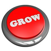 Grow button isolated over white Stock Illustration