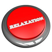 Relaxation button isolated over white Stock Illustration