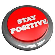 Stay positive button isolated over white Piirros