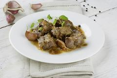 Venison stew (Andalusia) Stock Photos