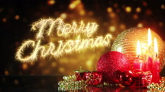 Merry christmas celebration background last 10s loopable Stock Footage