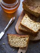 Gluten free corn-oat bread. Stock Photos