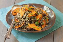 Wild Rice with Carrots Stock Photos