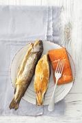 Salmon, halibut and trout (smoked) Kuvituskuvat