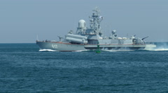 Modern small missile boats Russia Stock Footage