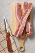 Slices of Speck ham Stock Photos