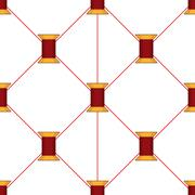 Spool of thread texture seamless pattern Stock Illustration