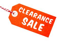 Clearance Sale Tag With String Stock Photos