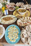 An abundant party buffet Stock Photos