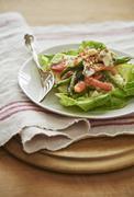 French Green Bean Salad, Haricot Vert, tomato, bib lettuce, roquefort salad, Stock Photos