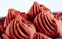 Raspberry ice cream (close-up) Stock Photos