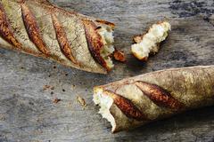 Sourdough bread, broken Stock Photos