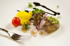 Beef in aspic with vegetables (Austria) Stock Photos