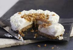 Banoffee pie, sliced Stock Photos