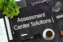 Assessment Center Solutions Concept. 3D render Stock Illustration