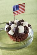 A stars and stripes cupcake Stock Photos