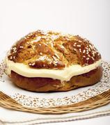 A Tropezienne cake (France) Stock Photos