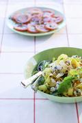 Pasta con la rucola (pasta with rocket, Italy) Stock Photos