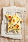 Tiropitakia (puff pastry parcels filled with feta, Grecce) Stock Photos