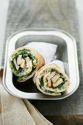 Pita wraps with chicken and mayonnaise Stock Photos
