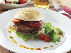 A bison burger Stock Photos