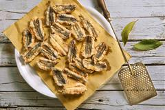 Acciughe fritte (fried anchovy fillets, Italy) Stock Photos