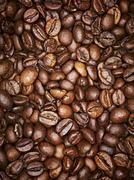 Coffee beans, full frame, close-up Stock Photos