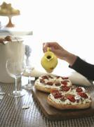 Pane condito (open bagel sandwiches, Italy) Stock Photos