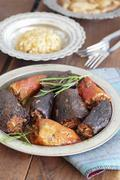 Stuffed peppers and aubergines with pilau (Turkey) Stock Photos