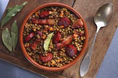 Lentil stew with bacon and chorizo Kuvituskuvat