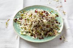 Jewelled rice (spiced Arabian rice) with barberries Stock Photos