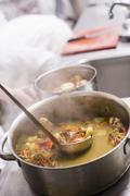 Crustacean sauce being made Stock Photos