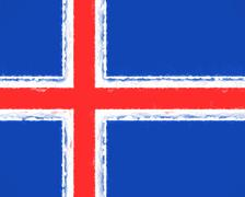 Flag of Iceland Smudged Stock Illustration