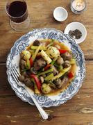 Lamb ragout with spring vegetables Kuvituskuvat