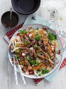 Beef salad with carrots and radishes (Thailand) Kuvituskuvat