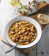 White bean soup with Italian salsiccia Kuvituskuvat