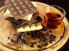 Chocolate truffle ingredients Stock Photos
