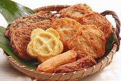 Fried fish cakes (Japan) Stock Photos