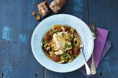 Fish soup with beans (Italy) Stock Photos