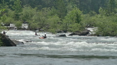 Slow Motion Kayak Telephoto on the Ocoee River Stock Footage