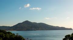Famous phuket island coastline point view panorama 4k time lapse thailand Stock Footage