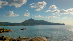 Summer day laem sing beach view point panorama 4k time lapse thailand Stock Footage