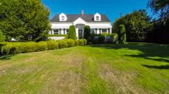 Quaint American suburban home exterior Stock Footage