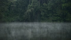 Fog on Lake at early Morning. Stock Footage