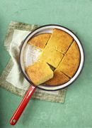 Cornbread in a saucepan Stock Photos