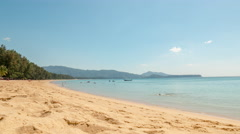 Phuket island day famous beach coastline panorama 4k tim elapse thailand Stock Footage
