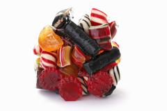 A clump of sweets Stock Photos
